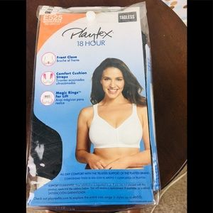 Playtex 38D Black Posture Booster Front Closure